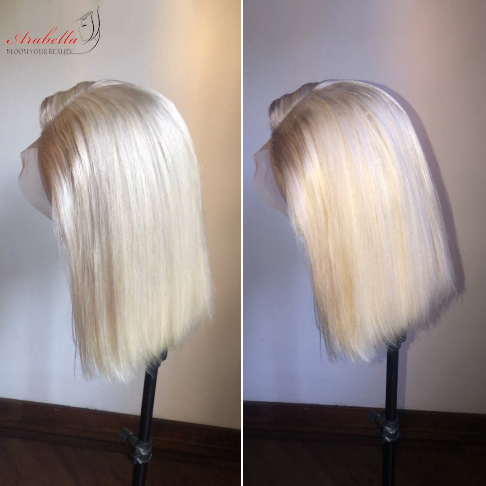 Blonde Straight Bob Wig Lace Front Wig 100%  Wigs 180% Density Arabella   Hair 613 Lace Front Wig Bob 4
