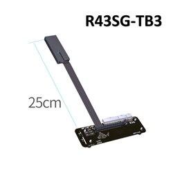 ADT-Link PCIe x16 Pci-E x16 om TB3 Verlengkabel PCI-Express Kabels eGPU Adapter R43SG-TB3