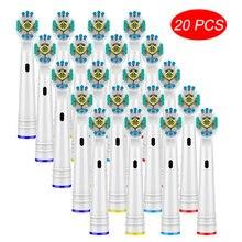 20 шт сменные головки для зубной щётки oral b braun