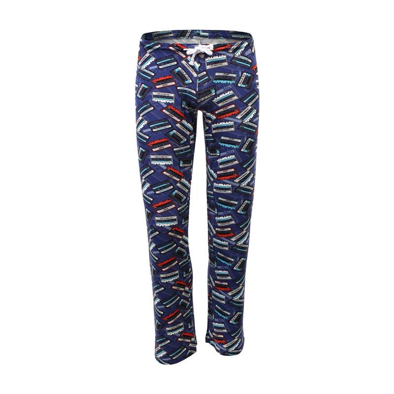 Male Sleep Bottoms Cotton Underwear Pajama Funny Cartoon Sleepwear Lounge Pants Sexy Homme Pijamas Loose Causal Pyjama Trousers
