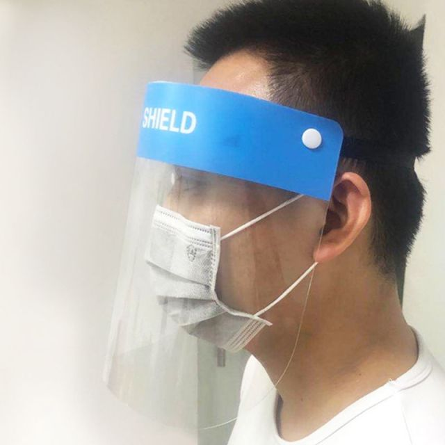 Grade Anti-Saliva Splash Anti-Spitting Anti-Fog Anti-Oil Protective Face Shields Mask with Elastic Band 5