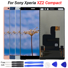 For Sony Xperia XZ2 Compact LCD Display Touch Screen Digitizer Assembly Replacement test 5.0'' LCD For Sony XZ2 Mini Screen LCD цена