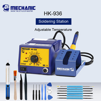 MECHANIC HK-936 Lead-Free Soldering Iron Soldering Station Adjustable Temperature Welding Desoldering Tools SMT Rework Station