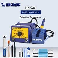 Mechanic HK-936 무연 납땜 인두 납땜 스테이션 조정 가능한 온도 용접 납땜 제거 도구 smt 재 작업 스테이션
