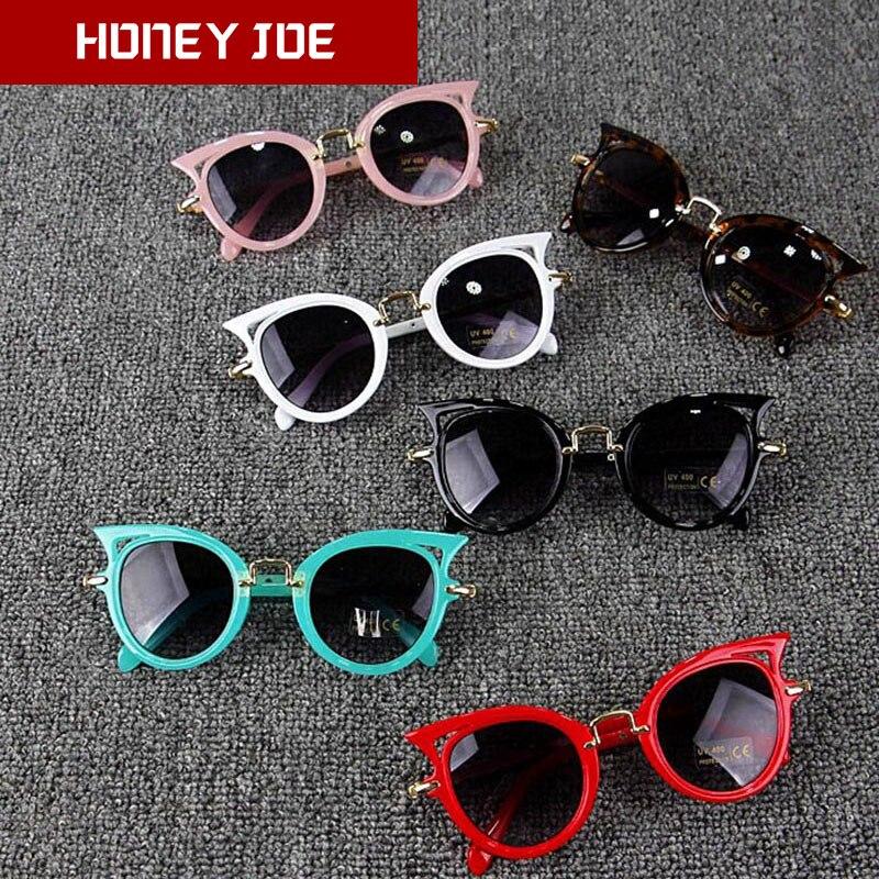 Kids Stylish Cat Eye Sunglasses Vintage Girls Cute Sun Glasses Party Eyewear Shades Lovely Children Students For Gift UV400