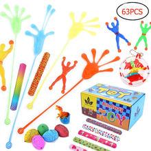 Sac à cadeaux pour enfants, 63 pièces, cadeaux de fête d'anniversaire, sac à cadeaux, jouets, cadeaux de carnaval, cadeaux de mariage, cadeaux scolaires