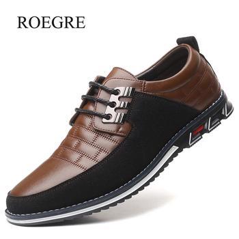 2019 جديد كبير حجم 38-48 أوكسفورد حذاء رجالي جلد الأزياء عارضة الانزلاق على الأعمال الرسمي الزفاف اللباس أحذية الرجال قطرة مجانا