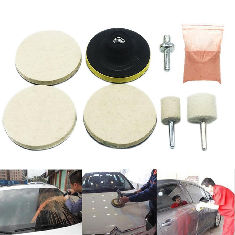 8pcs Car Windscreen Polishing Kit Practical Auto Car Windows Scratch Remover Glass Polishing Kit Scratch Repair Tool