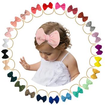 1PC noworodka opaski niemowlę dziewczynek stałe duża kokarda pałąk Stretch Hairband nakrycia głowy niemowlę dziewczynki Turban nakrycia głowy D24 # tanie i dobre opinie CN (pochodzenie) Mieszanka bawełny dla dziewczynek W wieku 0-6m 7-12m 13-24m 25-36m Cotton baby Baby Headbands Opaski do włosów