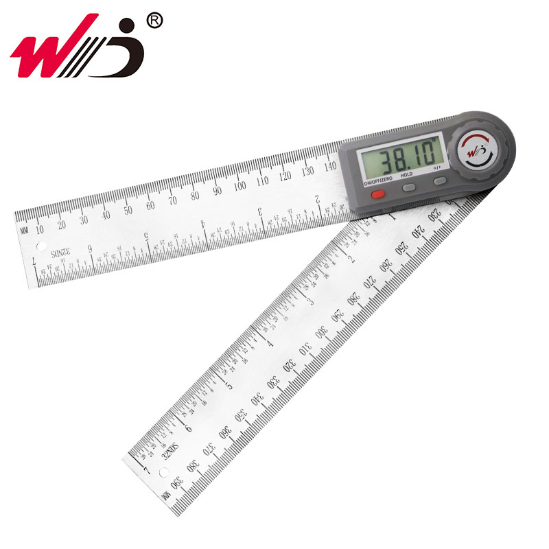200 Mm 7'' Digital Gonionmeter Stainless Steel Angle Ruler Finder Digital Protractor Inclinometer Angle Gauge Measuring Tools