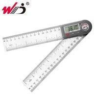 200 mm 7 digital gondigital gonionímetro ângulo de aço inoxidável régua finder digital transferidor inclinômetro medidor de ângulo ferramentas de medição|Transferidores| |  -