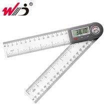 """200 mm 7 """"디지털 고니 온 미터 스테인레스 스틸 각도 눈금자 파인더 디지털 각도기 경사계 각도 게이지 측정 도구"""