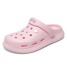 2020 neue Sommer Frau Schuhe Damen Strand Hausschuhe Frauen Flache Sandalen Große Größe Clogs Herren Schuhe Slides Sandalen Zapatos Alias