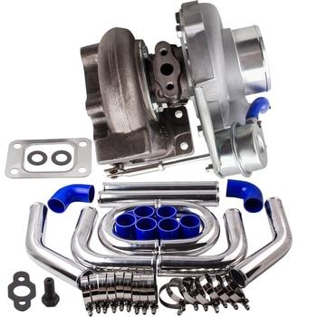 Top Koop T25 T28 GT2871 Turbo Turbo + 2.5 Inch 64Mm Intercooler Piping Pijp Kits