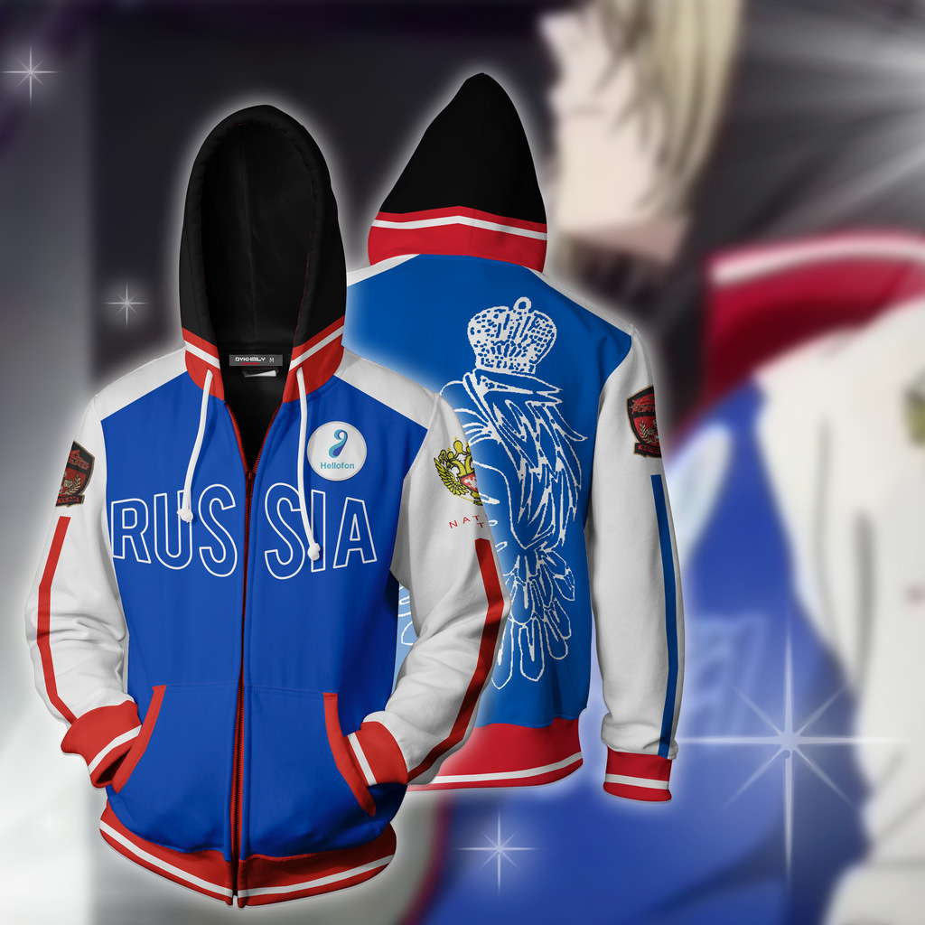 2019 Hot Japanese Man On Ice Yuri Yurio 3D Hoodie Cosplay Anime 3D Hoodie