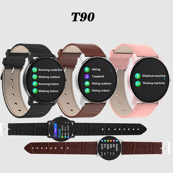 T90 Smartwatch Men Waterproof Watch with Heart Rate Blood Pressure Monitor Activity Tracker Fitness Smart Watch for Android IOS