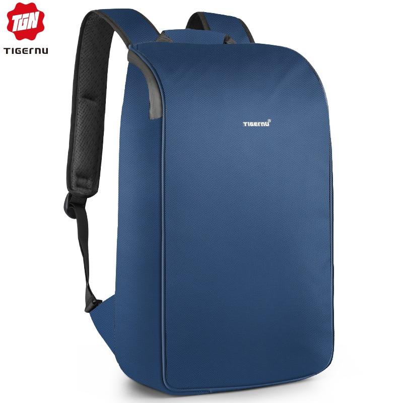 Tigernu sac à dos étanche avec ceinture Romovable sac pour hommes femmes USB charge Mochila Fit 15.6 pouces sacs de voyage pour ordinateur portable-in Sacs à dos from Baggages et sacs    1
