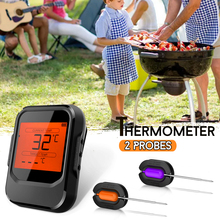 4.0 Wireless Digital Bluetooth Grill Thermometer with 2 Probe Control Food Cooking Timer Oven Meat BBQ Thermometer Kitchen Tool