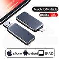 3 в 1 USB флеш-накопитель для iPhone X/iPad/Macbook USB3.0 флеш-накопитель из металла и стекла высокоскоростной U диск 32 Гб 64 Гб 128 ГБ 256 ГБ
