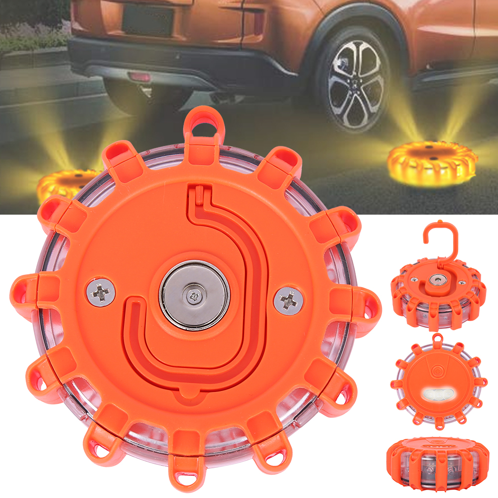 LED Multifunction Traffic Safety Warning Light Round Beacon Emergency Flashing Flashing Warning Light Police Light Bar