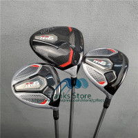 New golf clubs  M6 golf driver 3#5# golf fairway woods  FUBUKI graphite shaft golf woods set with headcover