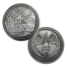 Tak lub nie czaszka pamiątkowa moneta pamiątkowe wyzwanie monety kolekcjonerskie kolekcja rzemiosło artystyczne Vintage szczęśliwa moneta