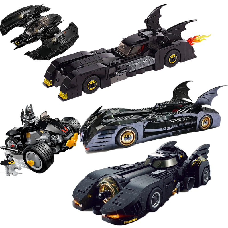 New Super Hero BatmanTumbler Catch Up Joker BatMobile Batwing Legoinglys Building Blocks Compatible Educational Toy For Children