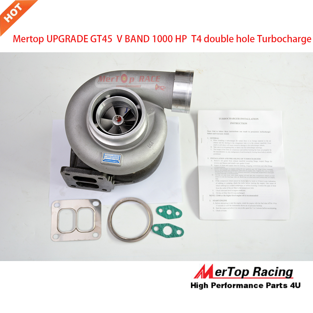 Mertop UPGRADE <font><b>GT45</b></font> V BAND <font><b>TURBO</b></font> TURBOLADER KOMPRESSOR 1000 HP IN DER LAGE T4 GROßE image