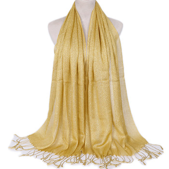 Fashionable Shimmer Women Scarf Lurex Shawls And Shawl Arab Islamic Muslim Hijabs Turban Plain Headscarf Head Covering Muffler fashionable women lace edges scarves islamic head scarf chiffon muslim hijabs turban plain long shawl headscarf stole 180 75cm