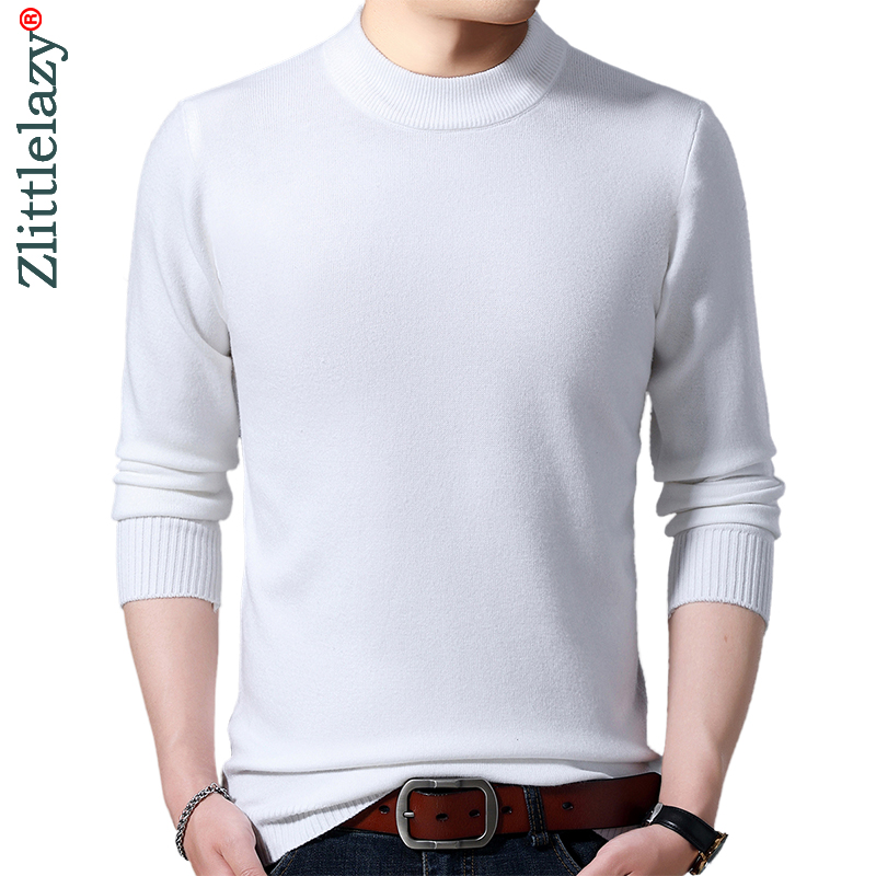 2019 Brand Thick Warm Winter Solid Knitted Pull Sweater Men Wear Jersey Mens Pullover Knit Mens Sweaters Male Fashions 90335