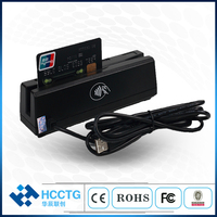 Hot sale bi directional magnetic swipe Smart IC NFC card reader SDK Magentic track 1 2 3 card reader for POS systems HCC110