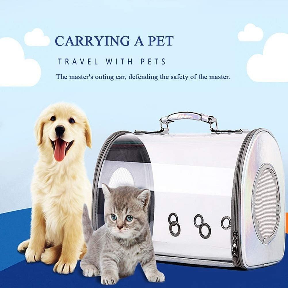 Sac à main transparente pour chat   Sac de transport 2 en 1 pour animaux domestiques, sacs transparents respirants pour chats, sac à épaule pour chiot, sac de Camping de voyage