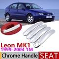Для Seat Leon MK1 1 м 1999 ~ 2004 Роскошная хромированная наружная дверная ручка  крышка  автомобильные аксессуары  наклейки  набор отделки 2000 2001 2002 2003