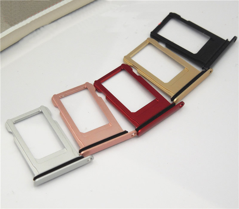 Micro Nano SIM Card Holder Tray Slot Replacement Part For Iphone 7 7plus SIM Card Holder Adapter Socket
