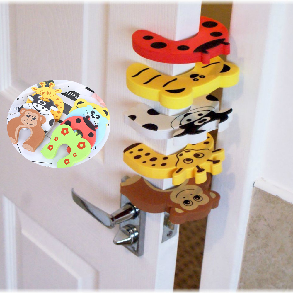 Random Colors  2pcs Animals Baby Child Proofing Door Stoppers Finger Safety Guard Safety Guard Finger Protective Toys For Baby