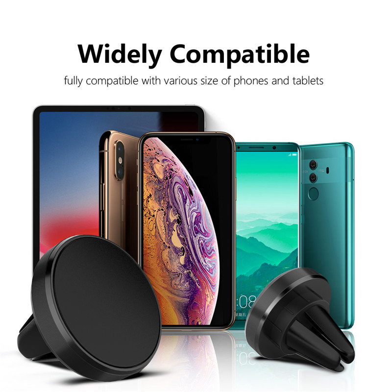 GTWIN Magnetic Car Phone Holder Mini Air Vent Clip Mount Magnet Mobile Stand For iPhone 11 Xiaomi Support Cell Holder in Car GPS Iphone Accessories