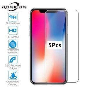 Image 1 - 5PcsสำหรับiPhone 7 8 6 6S Plus X XS Max XRกระจกนิรภัยหน้าจอป้องกันฟิล์มสำหรับiPhone 11 Pro Max 5 5S SE 2020