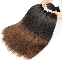 Cheveux de tressage préétirés synthétique Ez tresse cheveux basse température fibre professionnelle Crochet tressage Extensions de cheveux