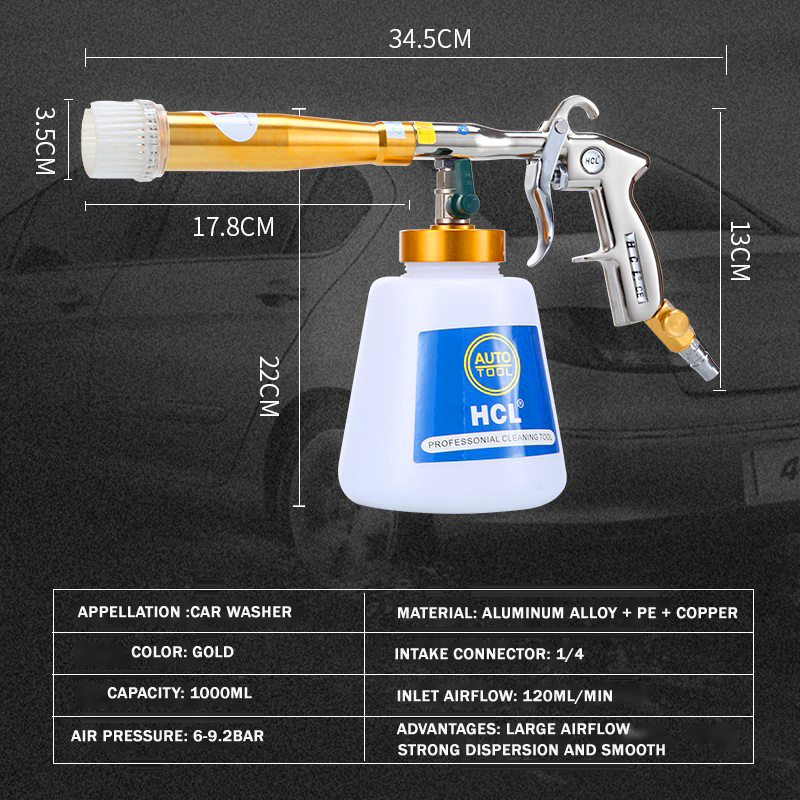 Tools : Tornador Cleaning Gun Dry Cleaning Tornado Car Cleaning Gun Auto Automotive Interior Cleaning Machine Tornador Foam Washer 2021