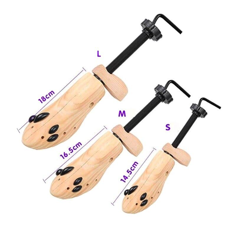 Civière de chaussures en bois lisse et Durable, Anti-rouille, ajustable, pour hommes et femmes, arbres à chaussures de haute qualité