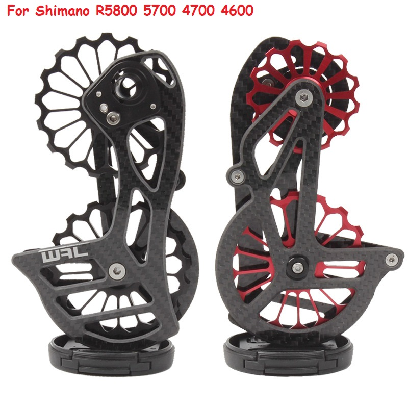 17T Road Bike Bicycle Carbon Fiber Ceramic Rear Derailleur Jockey Pulley Wheel Set For <font><b>Shimano</b></font> R5800 5700 4700 4600 Dual <font><b>105</b></font> image