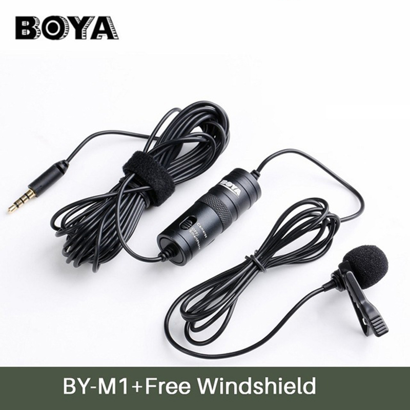 BOYA BY-M1 Label Lavalier Omni-directional Condenser Microphone for iPhone Android Canon Nikon DSLR Camcorder Audio Recorders image
