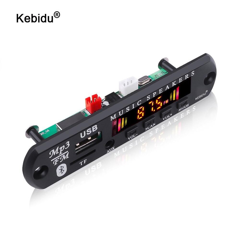 Kebidu – carte décodeur MP3 WMA pour voiture, 5V 12V, lecteur Audio MP3, USB TF, Module Radio FM, sans fil, Bluetooth 5.0 pour voiture