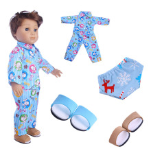 American doll pajamas + underwear slippers for 18-inch 43cm baby clothes accessories, generation, gifts