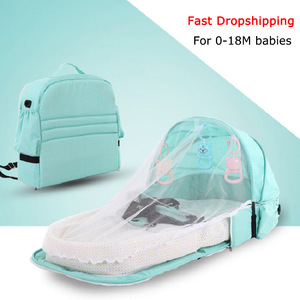 Baby Crib Bed Portable Folding Baby Bed Nest Cot For Travel Foldable Bed Bag With Mosquito Net Infant Sleeping Basket With Toys