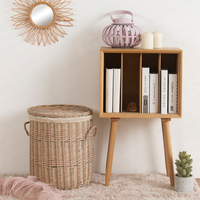 Willow Woven Large Storage Clothing Basket Storage Basket With Lid Dirty Clothes Toy Basket Laundry Basket