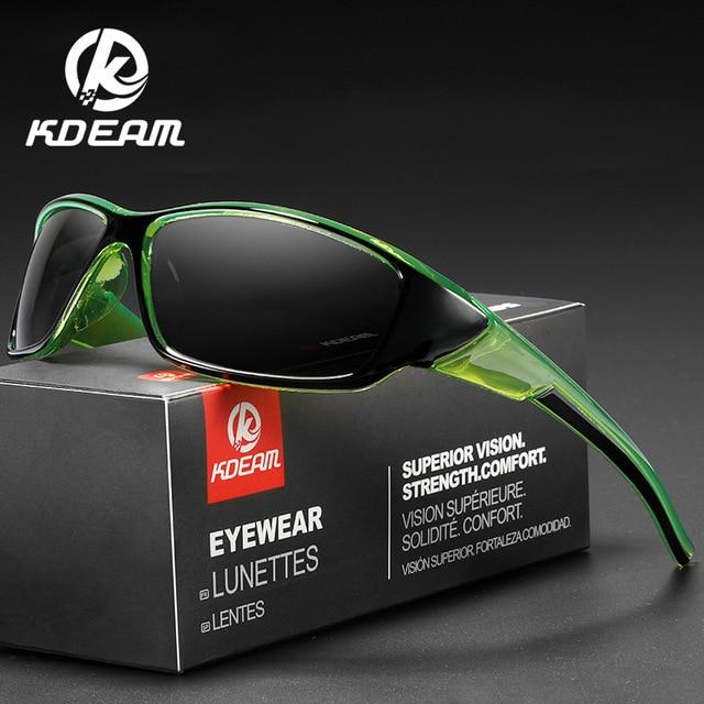 Kdeam Merk Vissen Bril Outdoor Sport Zonnebril Voor Mannen Pc Frame Hd Lens Gepolariseerde UV400 Bril Klimmen Zon Glassess
