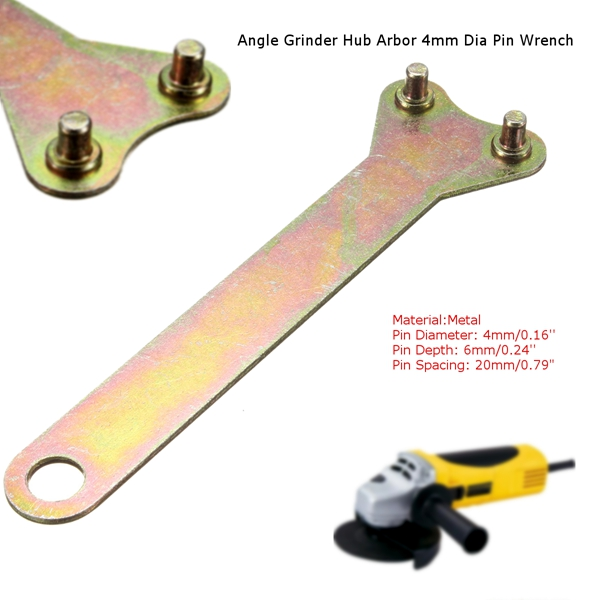 Pin Spanner Wrench Angle Grinder Two Pin Key Flange Nut 20mm Spacing Spanner