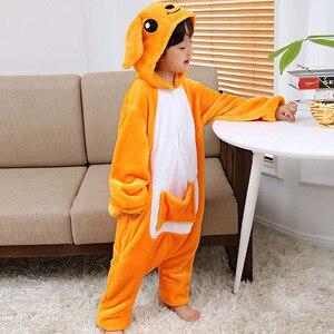 Image 5 - Kigurumi Pajamas Kangaroo Kids Animal Children Pajamas for Boys Girls Baby Cute Pyjama Onesies Winter Long Sleeve Sleepwear