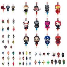 25 sztuk Avenger Star Wars pcv ołówek wykaszarki Mickey piórnik z nadrukiem czapki Pen uchwyty Pen akcesoria dla studentów DIY Craft dzieci prezent tanie tanio Arsmundi 3 lat